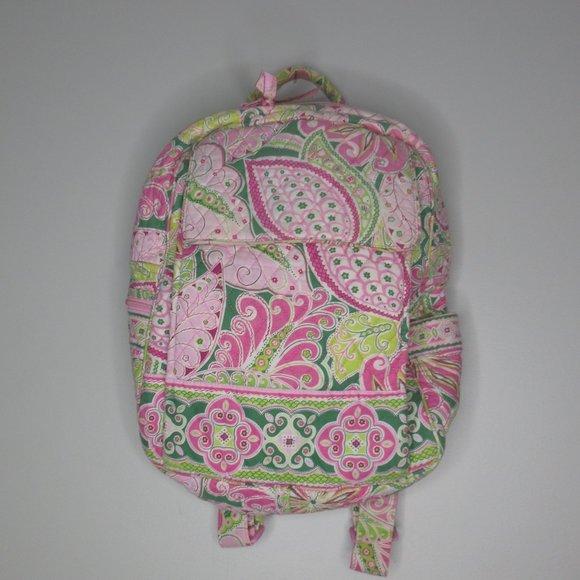 Vera Bradley pink/green backpack